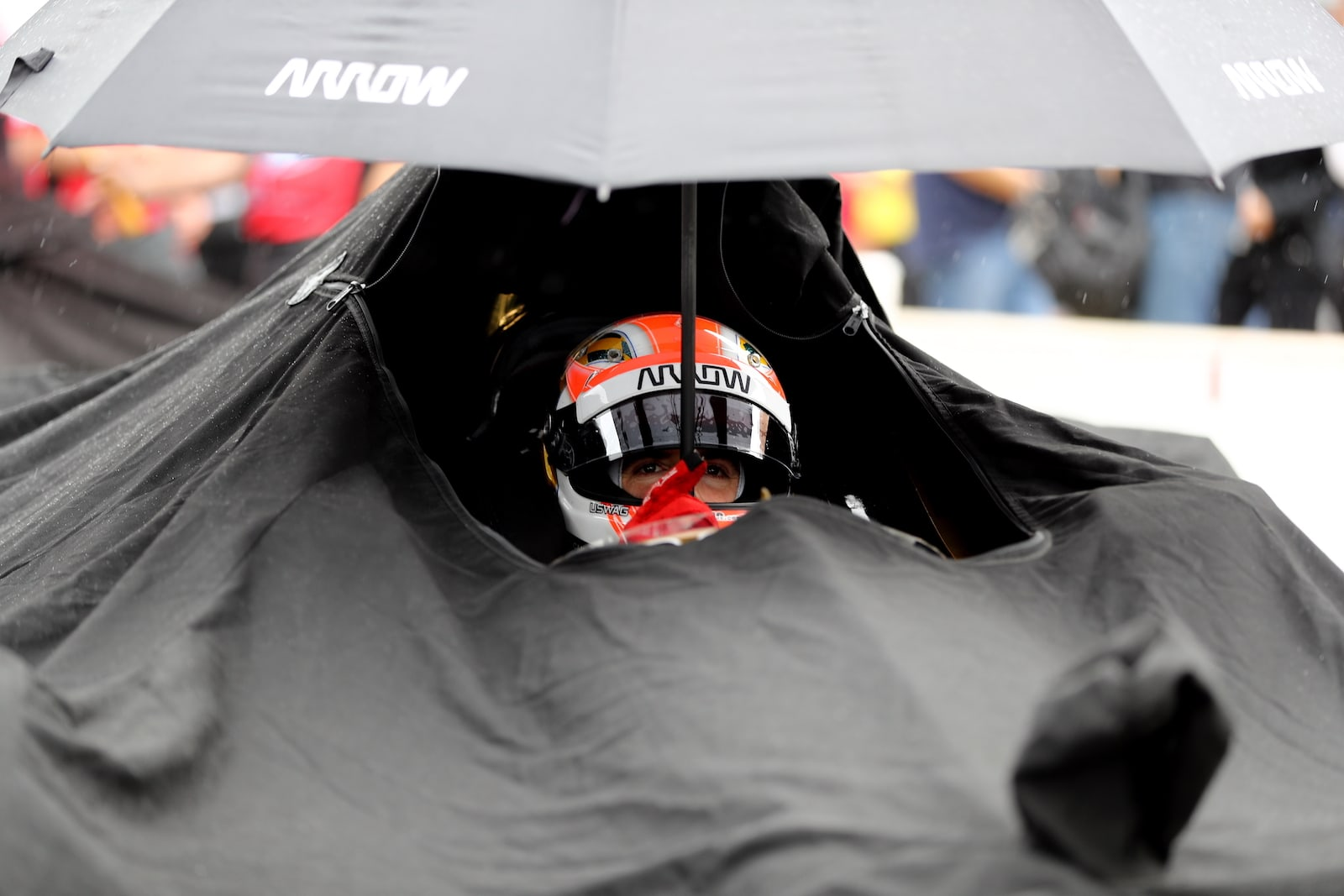James Hinchcliffe during Indy 500 qualifying rain delay