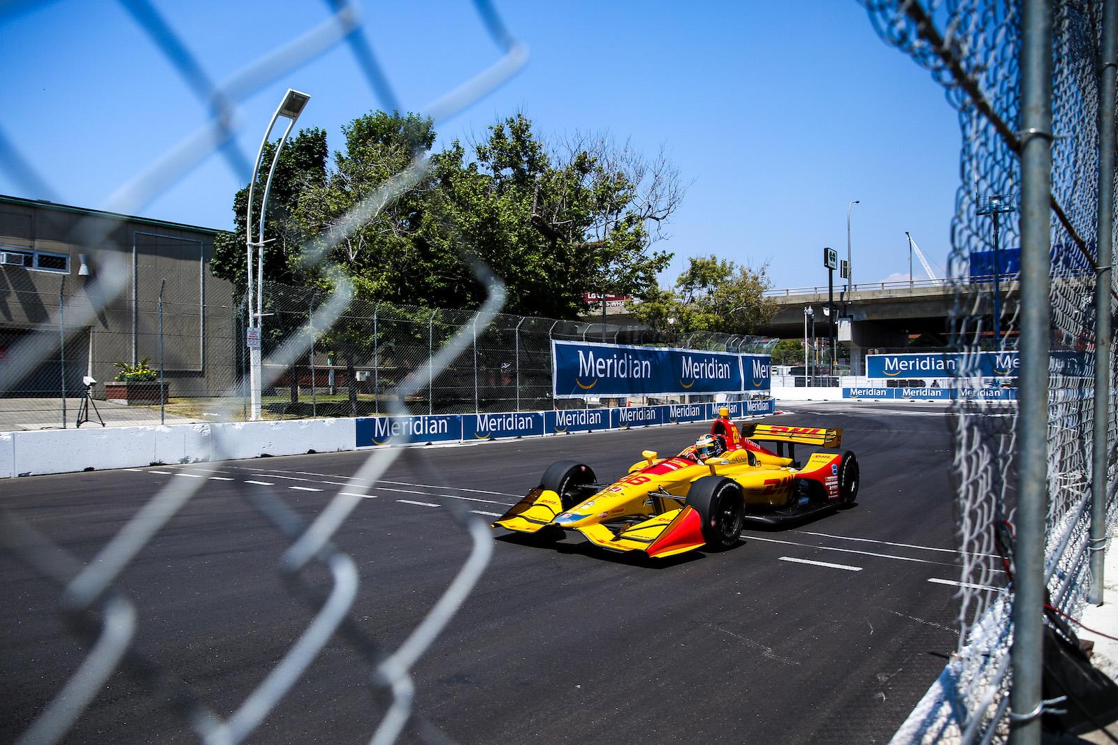 Ryan Hunter-Reay laps Honda Indy Toronto street circuit