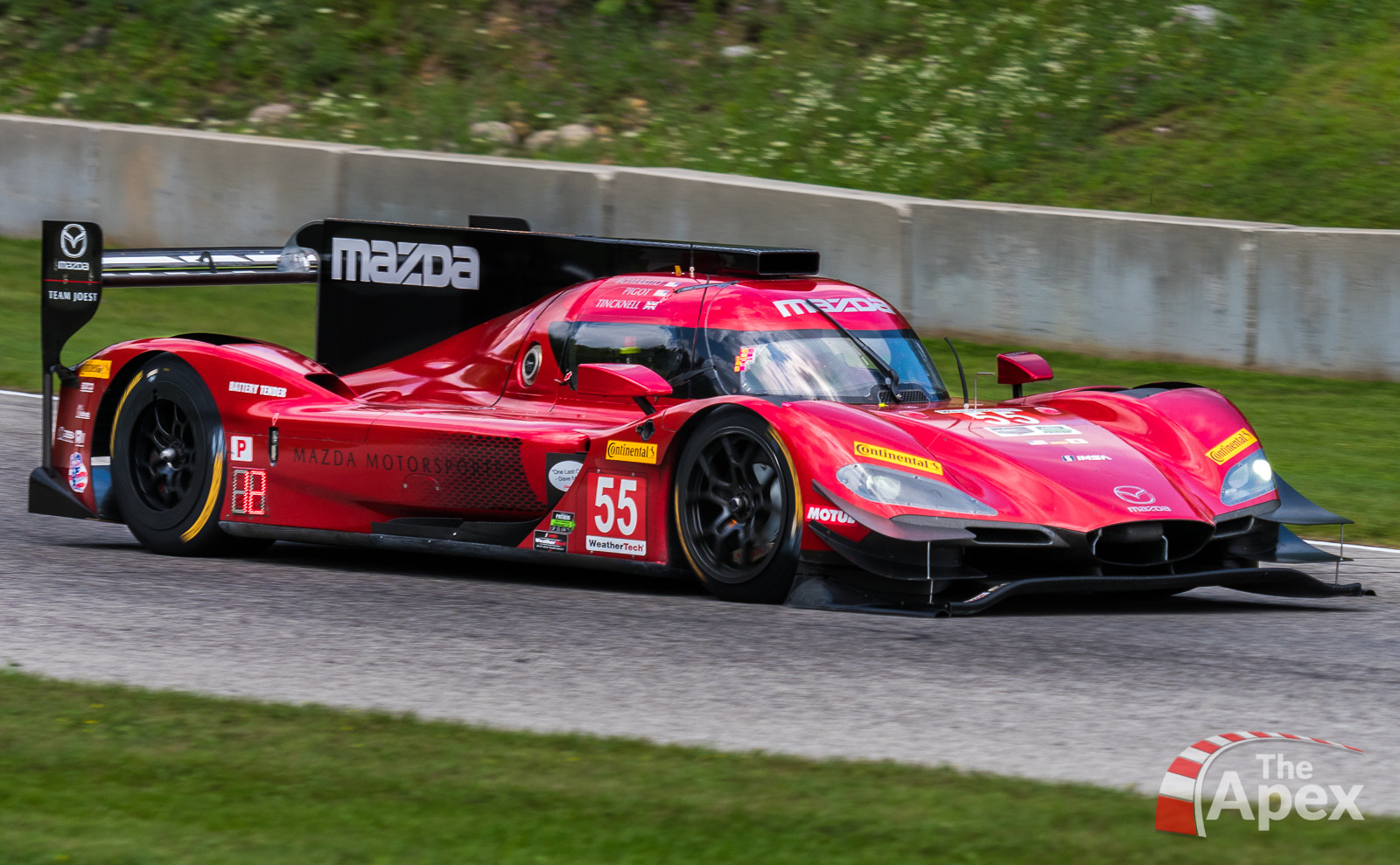 Mazda Team Joest car dives into Road America Turn 6