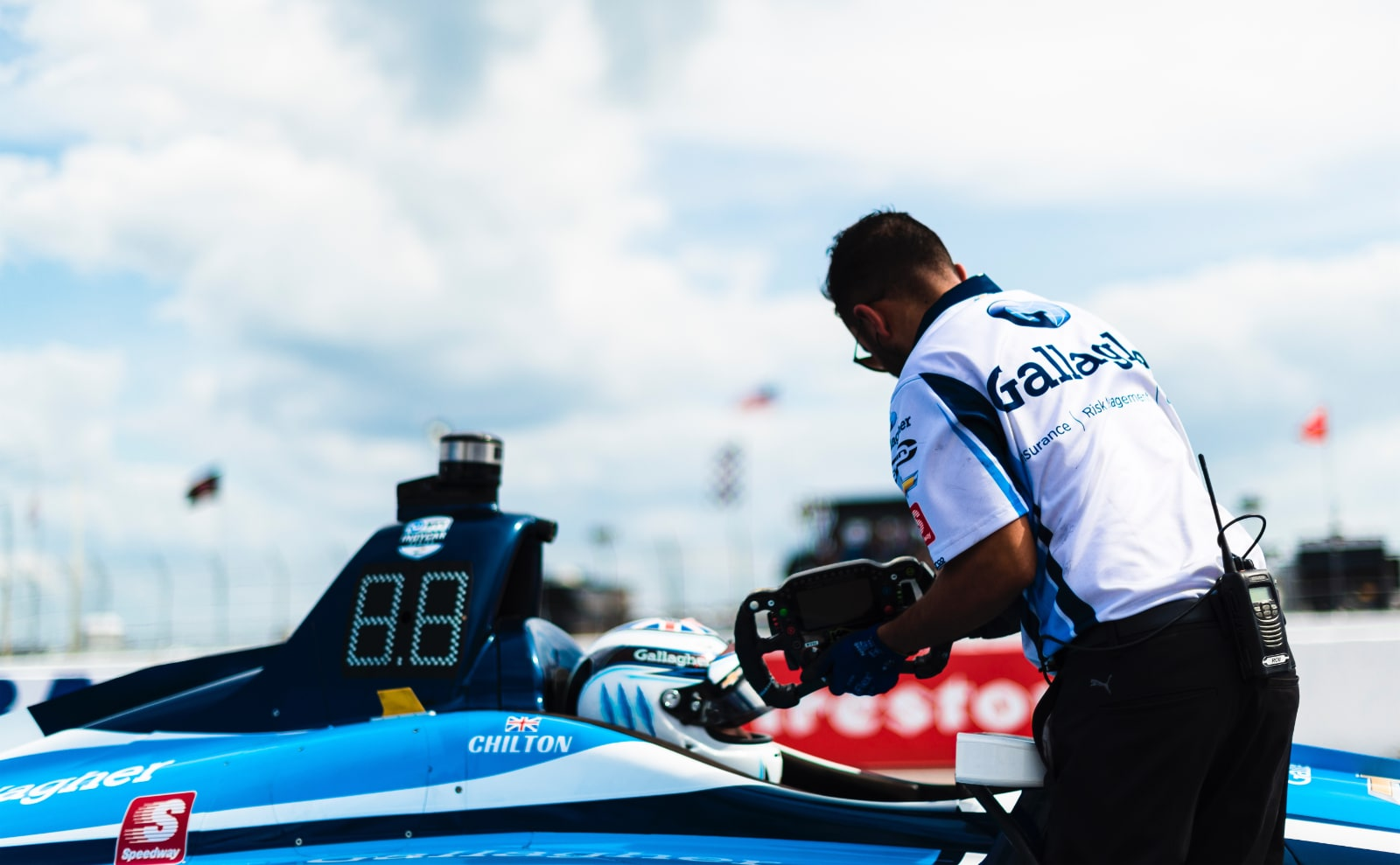 Max Chilton on Grand Prix of St. Petersburg pit lane