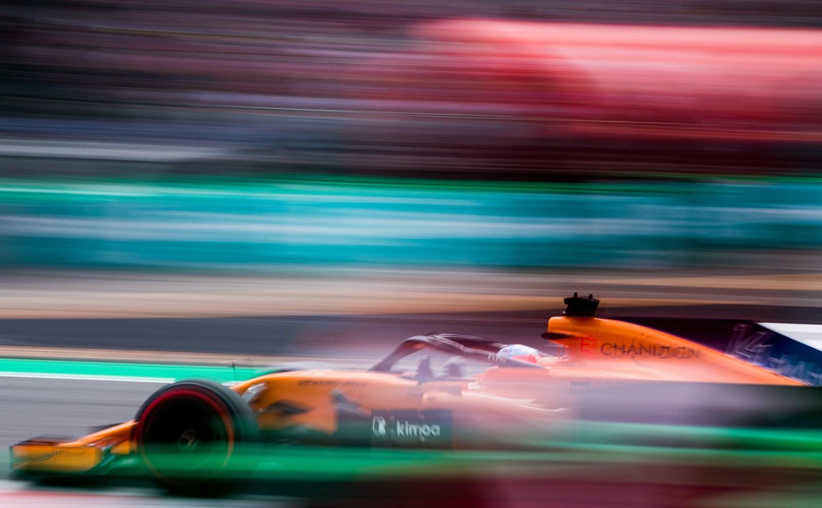 Fernando Alonso in McLaren F1 car during 2018 Italian Grand Prix