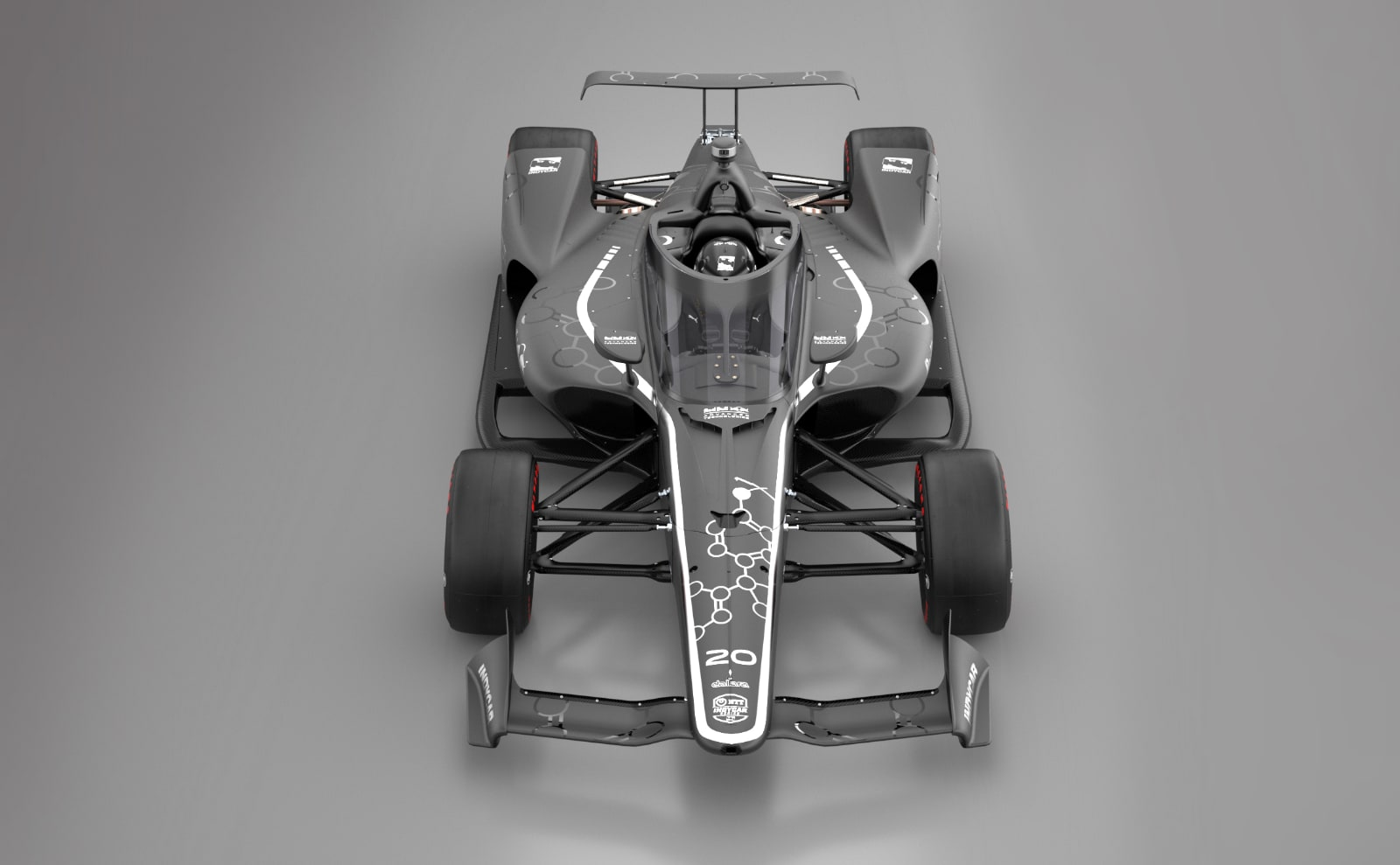 Red Bull Aeroscreen rendering on Indy car