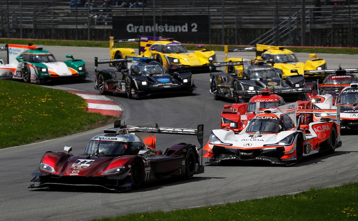 First turn of 2019 Mid-Ohio IMSA race