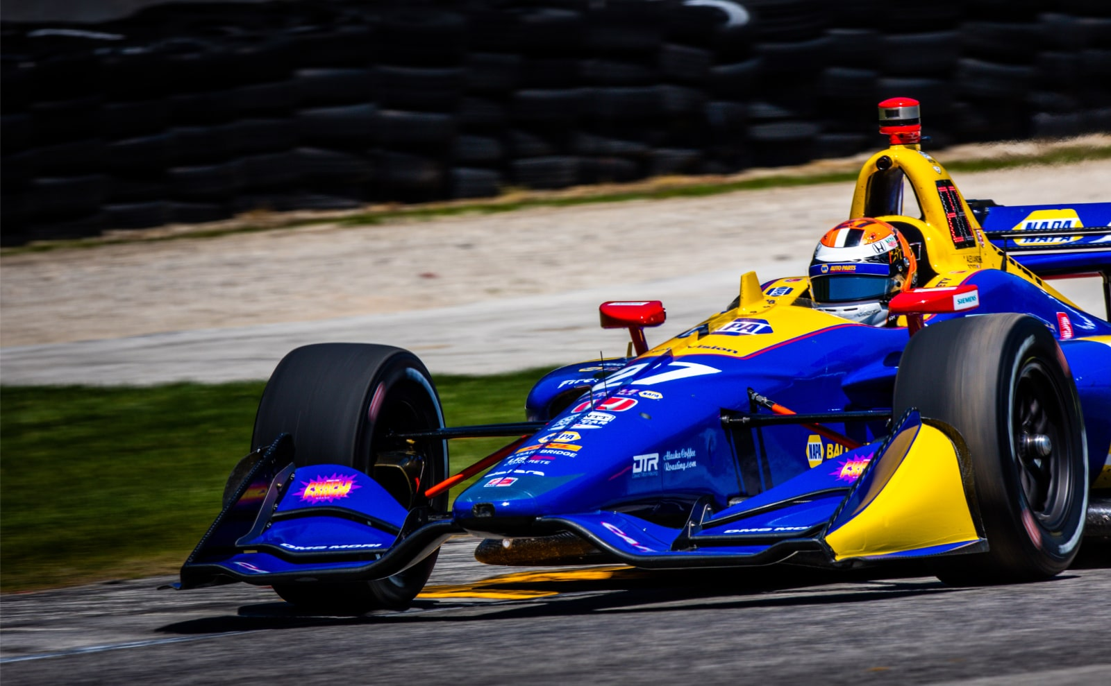 Alexander Rossi pounds around Road America in 2019 IndyCar practice times