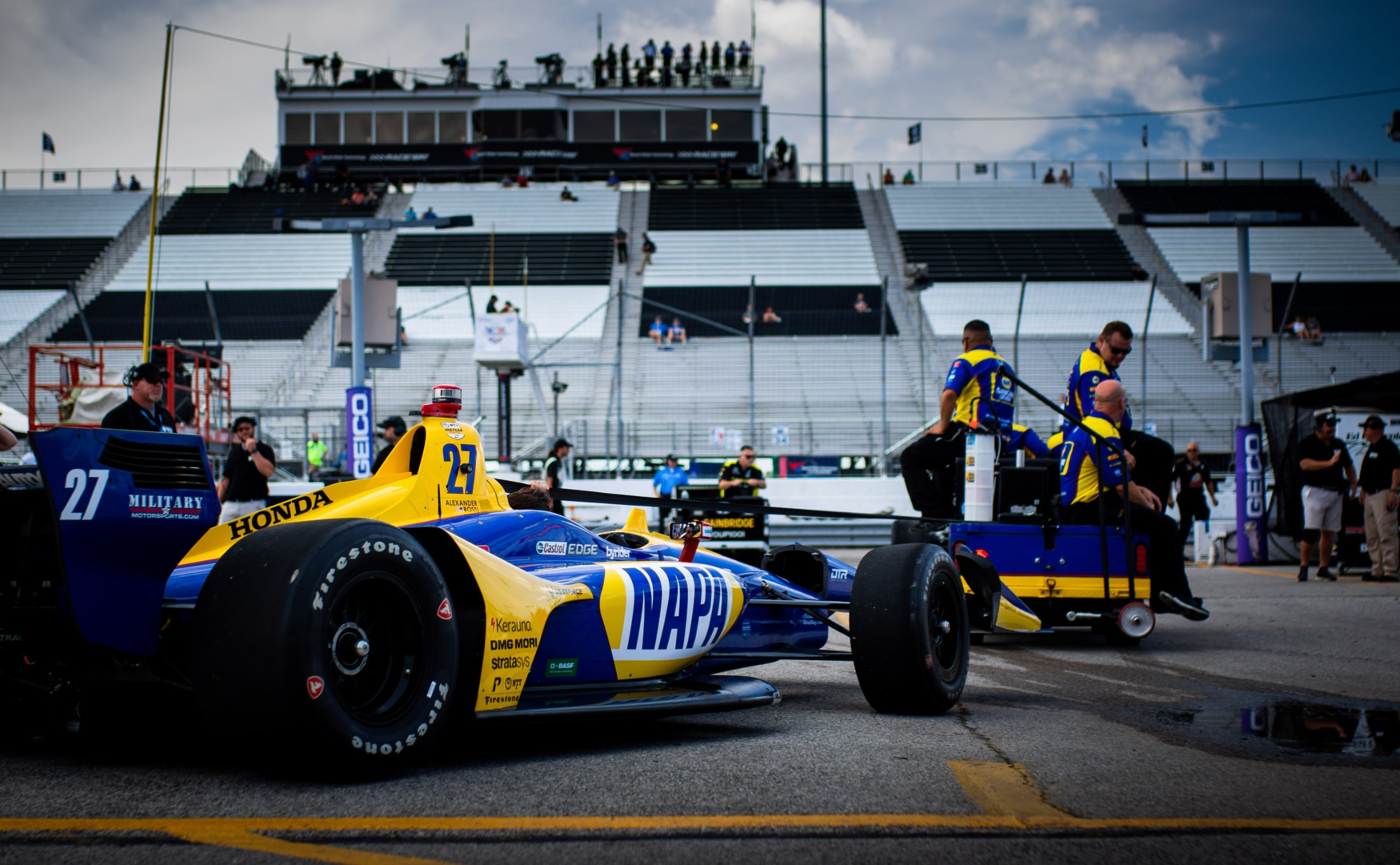 Alexander Rossi NAPA Andretti Indy car at 2019 Gateway race
