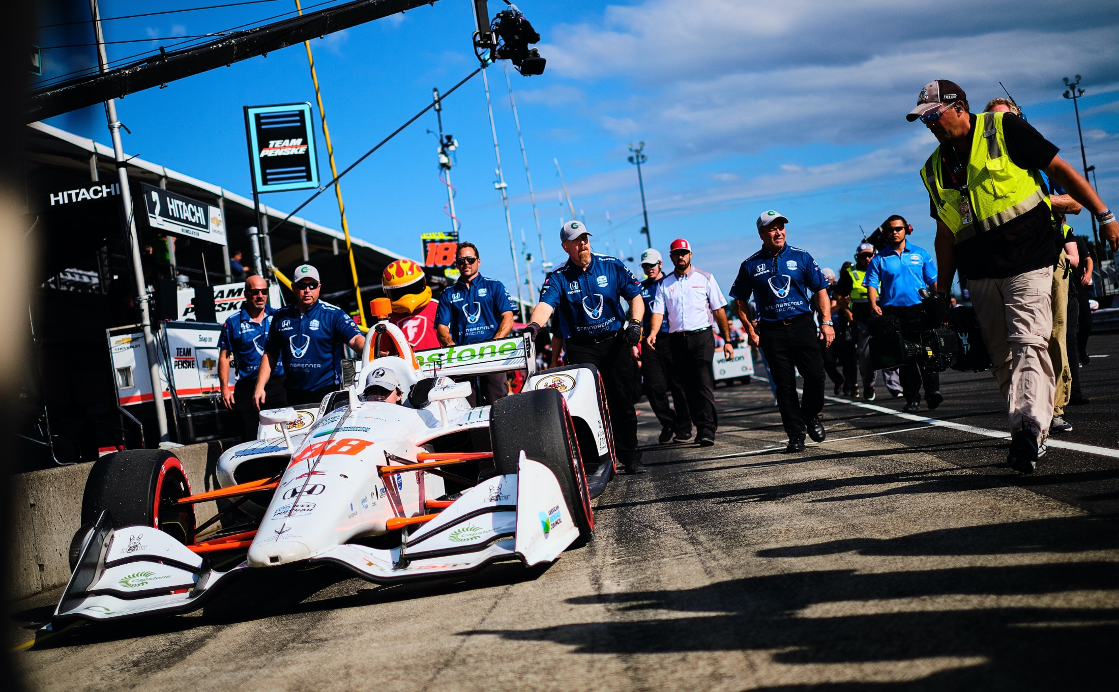 Harding Steinbrenner Racing pushes Indy car at Portland