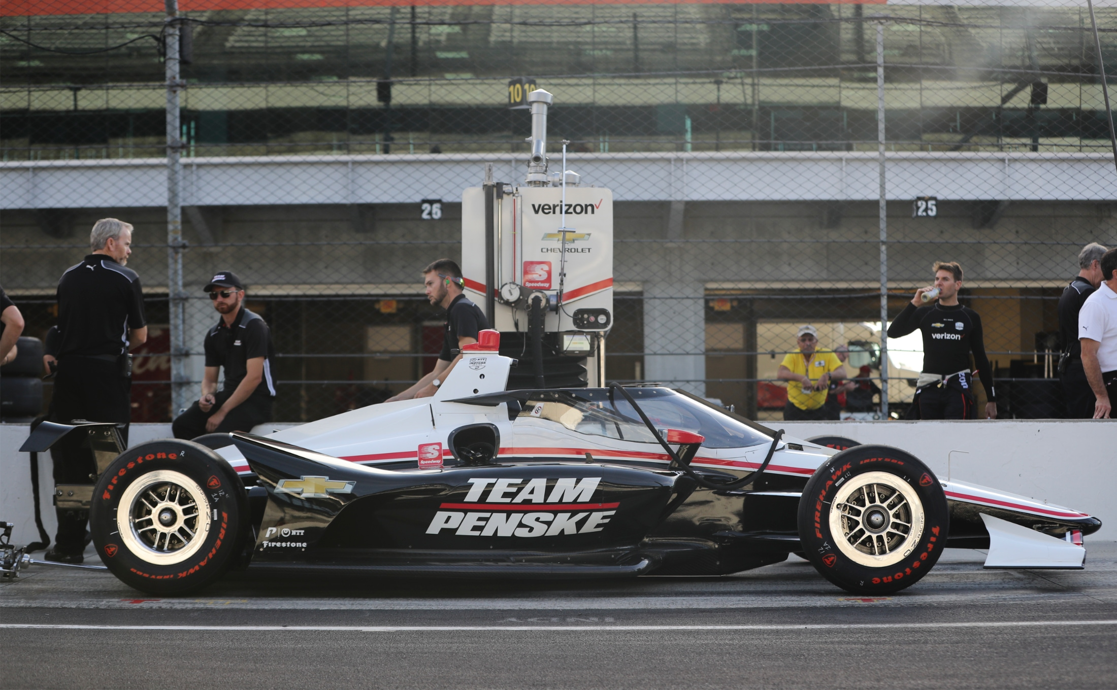 Aeroscreen on Penske Indy car at IMS