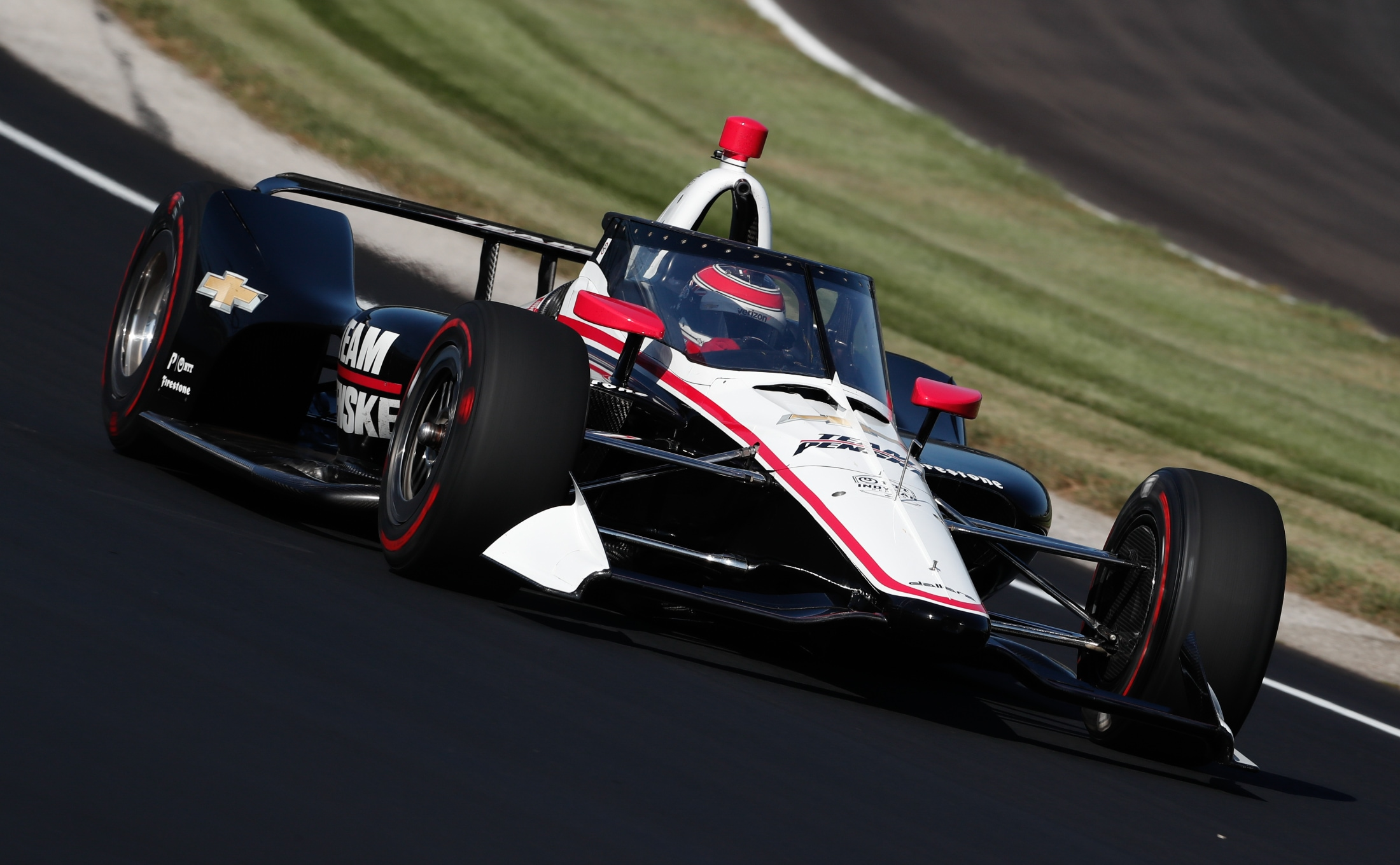 Will Power rounds IMS turn testing INDYCAR Aeroscreen