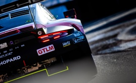 GTLM sticker on Porsche 911 RSR at Long Beach