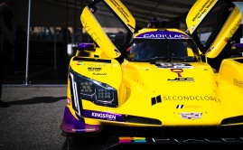 JDC-Miller Cadillac DPi unloaded at Long Beach